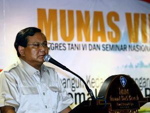 Prabowo Subianto Berpidato